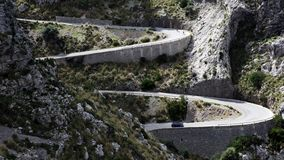 Дорога к Sa Calobra Pebble Beach, Мальорка, Испании стоковые изображения rf