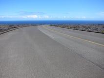 Дорога лавы Гавайи к морю Стоковое Фото