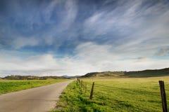 дорога ландшафта страны Стоковые Фотографии RF