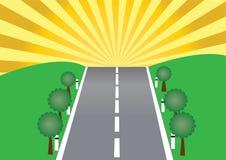 дорога ландшафта Стоковое Изображение RF