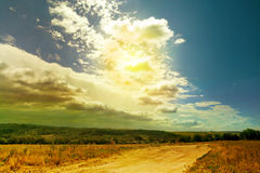 Дорога ландшафта Abctract Стоковые Фотографии RF