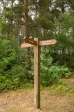 Дорога леса указателя Стоковое Фото