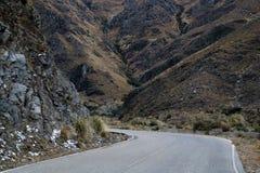 Дорога между горами в Merlo стоковое фото