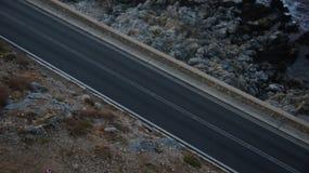 Дорога между утесами Стоковая Фотография RF