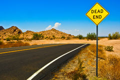 дорога мертвого конца Стоковые Изображения RF