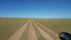 Дорога Монголия степи Стоковые Фото