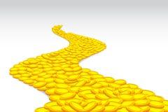 дорога монетки бесплатная иллюстрация