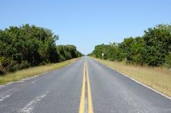 дорога национального парка болотистых низменностей Стоковые Фотографии RF
