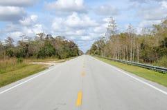дорога национального парка болотистых низменностей Стоковая Фотография RF