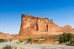 дорога национального парка пустыни сводов Стоковое фото RF