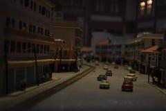 Дорога на городке фарфора имитирует Стоковые Изображения RF