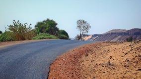 Дорога на западном береге реки Нила астрономически Стоковые Фото