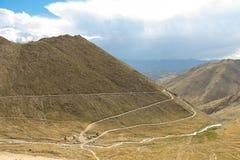 Дорога на крае горы Стоковое Изображение RF