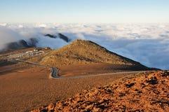 Дорога на национальном парке Haleakala, Мауи (США) Стоковые Фото