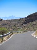 Дорога на острове Gran Canaria Стоковые Фотографии RF
