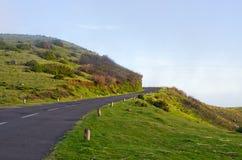 Дорога на плато Пола da Serra, Мадейре, Португалии стоковое фото rf