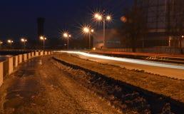 Дорога на портовом районе Стоковая Фотография RF