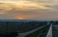 Дорога на пуще Стоковая Фотография