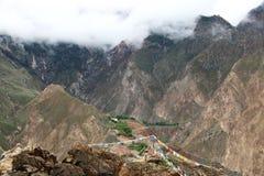 Дорога на Тибете Стоковые Фотографии RF
