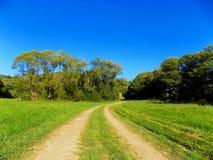 Дорога на луге Стоковое Изображение RF
