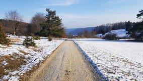 Дорога на холме для и наблюдая природы - Бадена-Wurttemberg Стоковые Изображения RF