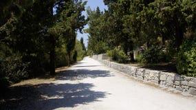 Дорога на холме Marjan Стоковое Фото