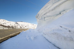Дорога над Hallingskarvet в Норвегии Стоковое Фото