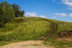 Дорога неба грязи стоковое изображение