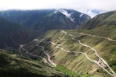 Дорога неба на Тибете Стоковое фото RF