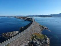 Дорога Норвегии атлантическая, вид с воздуха Стоковая Фотография