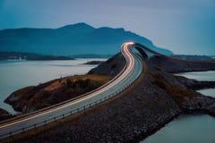 Дорога Норвегия Атлантического океана стоковые изображения