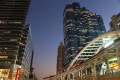 Дорога ночи Бангкока Стоковые Фото
