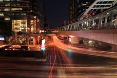 Дорога ночи Бангкока Стоковое фото RF
