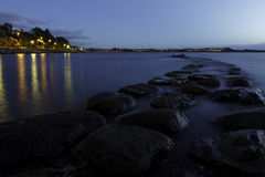 Дорога ночи камня стоковые фото