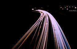 дорога ночи Стоковые Фотографии RF