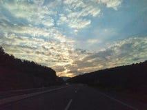 Дорога облака стоковое фото