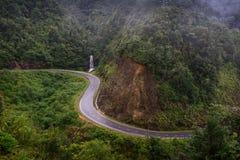 Дорога около водопада в Sapa, Вьетнаме Стоковое Изображение