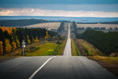 Дорога осени неровная Стоковое фото RF