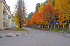 Дорога осени Стоковые Фотографии RF