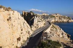 Дорога острова Du frioul Стоковое Изображение RF