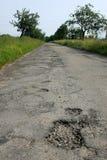 дорога отверстия повреждения Стоковое Фото