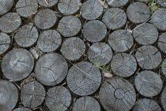 Дорога от блоков кольца деревянных Стоковая Фотография