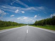 Дорога от Малайзии к Таиланду Стоковые Фото