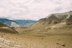 Дорога от Muktinath к Kagbeni Стоковое Изображение