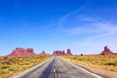дорога памятника к долине Стоковая Фотография