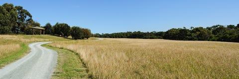 дорога панорамы гравия Стоковое Изображение