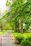 Дорога парка турникета Стоковое Изображение