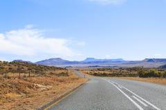 Дорога перспективы от оранжевого освободившееся государство, Южной Африки Стоковые Изображения RF