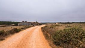 Дорога песка в Алгарве Стоковые Фото