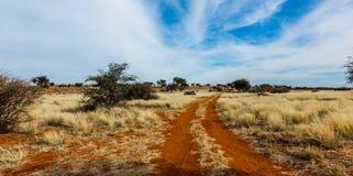 Дорога песка в Намибии Стоковое Фото